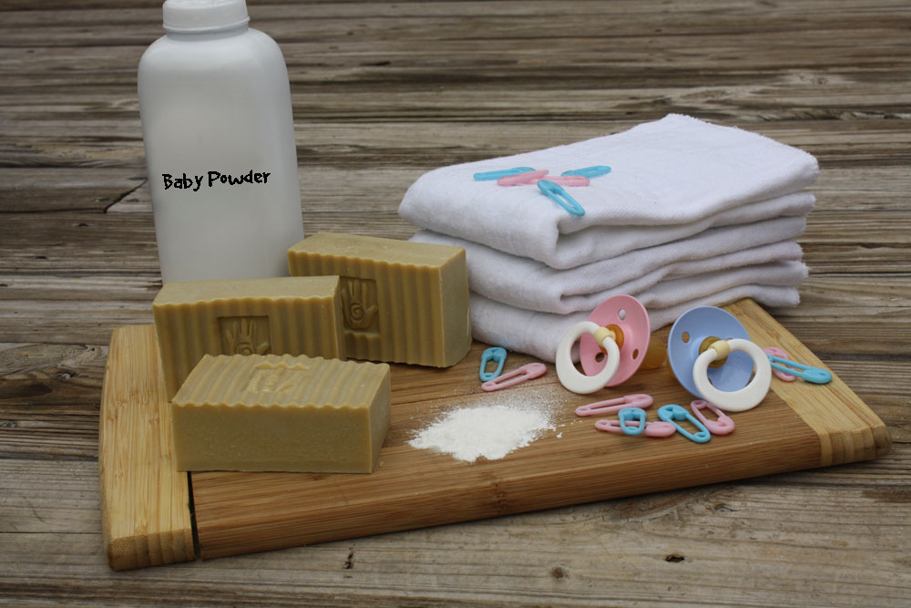Oh Baby! $5 - Our Castile soap with a baby powder scent. Give your little stinker a bath with this one.